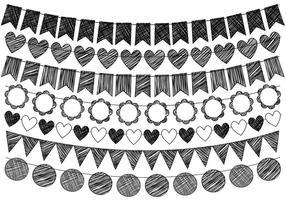 Hand-drawn-doodle-bunting-vectors