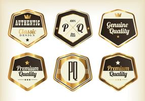 Vecteurs de badge Premium d'or