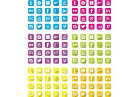 Gratis lange schaduw sociale iconen
