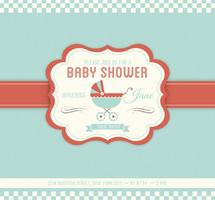 Baby Shower Vector Uitnodiging Sjabloon