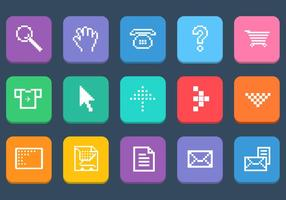 Various-pixel-web-icons-vector-set