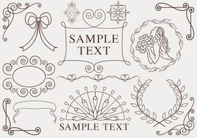 Handdragen Ornaments Vector Pack
