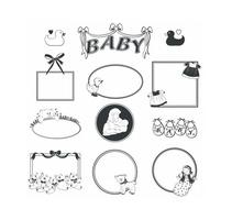 Retro Baby Rahmen Vector Pack