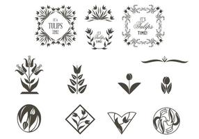 Tulp Ornamenten Vector Set