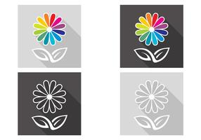 Abstracte Bloemen Vector Set