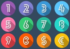 Flat-number-icons-vector-set