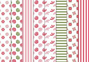 Floral Stripes Vector Patrones