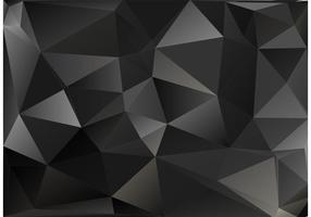 Black Polygon Vector Background