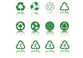 Green Recycle Icon Pack Vector