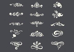 Vintage Flourishes Vector Set