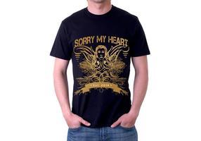 Sorry mein Herz Grunge T-Shirt Vektor Design