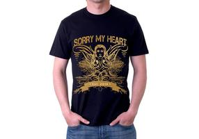Ledsen min hjärta Grunge Tshirt Vektor design