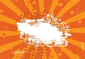 Grunge laranja sunburst vector background