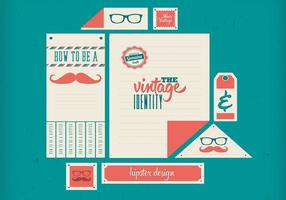 Hipster Retro Vector Identidad Set