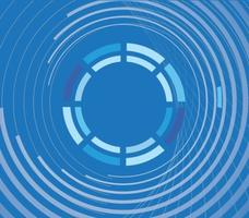 Blauer abstrakter Kreis Hintergrund Vektor