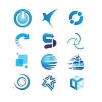 Blaue Icons Vector Set
