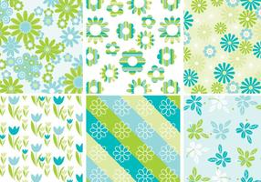 Cute-spring-floral-background-vector-pack