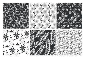Floral Patterned Hintergründe Vector Set