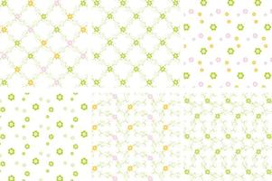 Green Floral Vector Patters