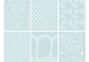 Romantic Patterns Backgrounds Vector Pack