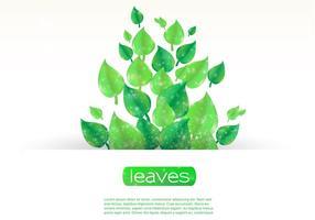 Sparkling-leaf-banner-vector