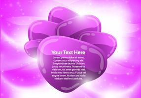 Purple Abstract Bubble Background Vector