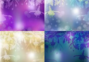 Bleeding Heart Floral Background Vector Set