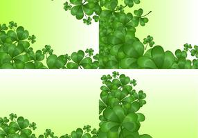 Clover Backgrounds Vector Set