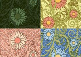 Bunte Sonnenblumen-Vektor-Muster