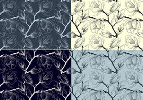 Sketched-floral-vector-patterns