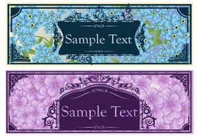 Vintage Floral Banner Vektor Set