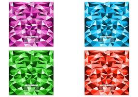 Conjunto de vectores de fondo poligonal brillante