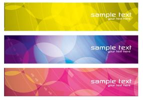 Colorful Abstract Banners Vector Set