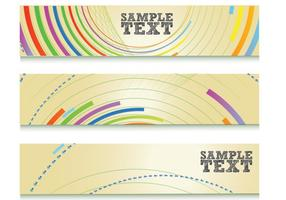 Colorful Abstract Lines Banner Vector Set