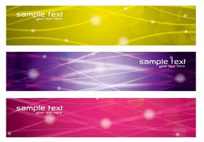 Colorful Glowing Lines Banners Vector Pack