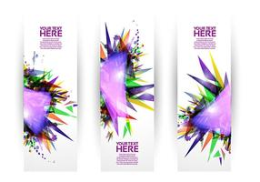 Bright Geometric Banner Set Vektor