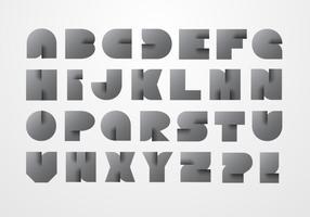 Vettore di alfabeto di origami moderno