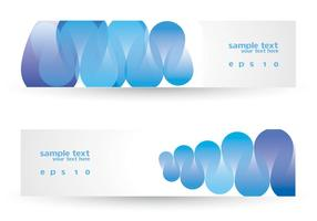 Funky Blue Banner Set Vector