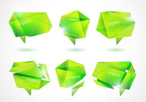 Fresh-green-origami-banners-vector-pack