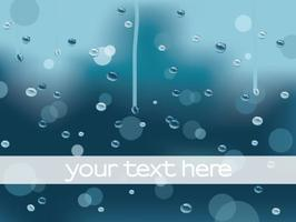 Glass Surface with Water Drops Vector Background