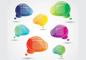 Glanzende Speech Bubbles Vector Pack