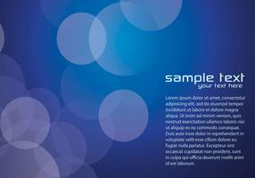 Dark Blue Bokeh Vector Background