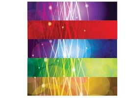 Abstract-glowing-lines-banners-vector-set