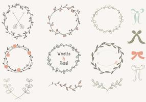 Hand-drawn-laurels-wreaths-vector-collection