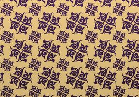 Purple and Gold Ornamental Vector Patterned Background