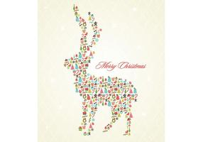 Retro-christmas-reindeer-background-vector