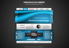 Silver and Blue Website Vector Template