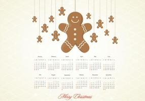 Gingerbread Calendar Vector