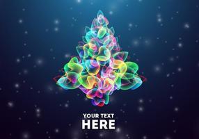 Glühende abstrakte Weihnachtsbaum Vektor