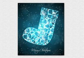 Bokeh-christmas-stocking-vector-background